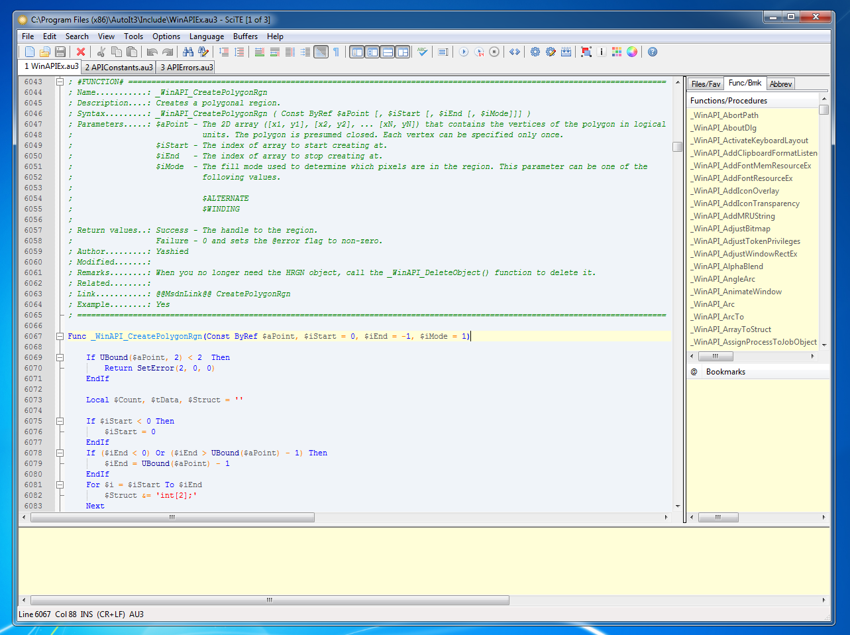 SciTE 3.5.5.101 build 1.3.8